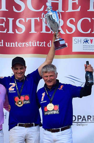 amtierender Deutscher Meister Beach Polo